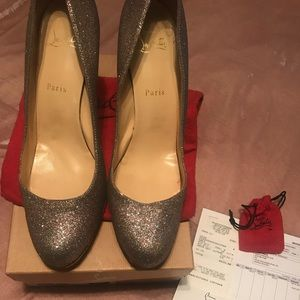 Authentic Christian Louboutin Simple Glitter Pump